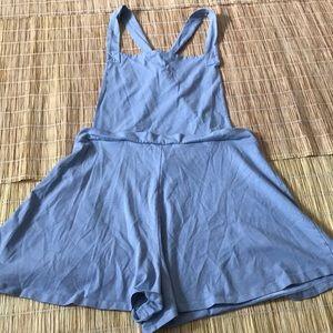 ASOS Pinafore Mini Baby Blue Romper Overalls Sz 10